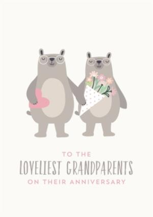 Greeting Cards - Anniversary Card to the loveliest Grandparents - Image 1
