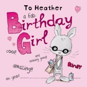 Greeting Cards - A Fab Birthday Girl Personalised Happy Birthday Card - Image 1