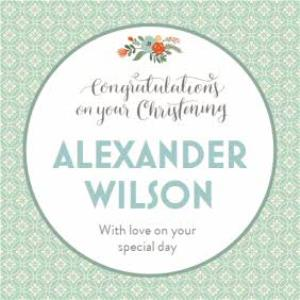Greeting Cards - Mint Congratulations On Your Special Day Personalised Christening Card - Image 1