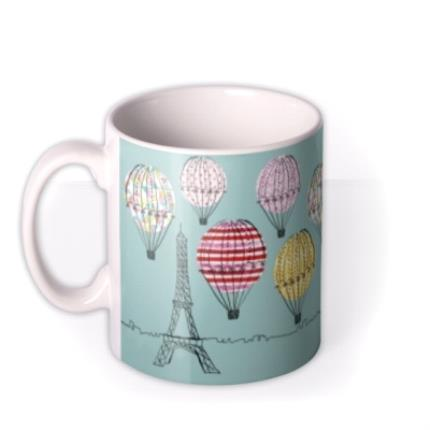 Mugs - Happy Birthday Hot Air Balloons Personalised Mug - Image 1