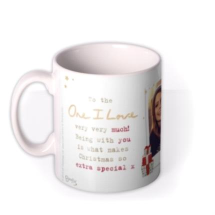 Mugs - Cute Boofle Extra Special Christmas Photo Upload Mug for the One I love - Image 1