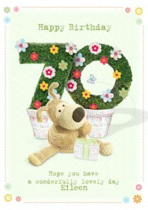 Boofle Happy 70Th Birthday Card