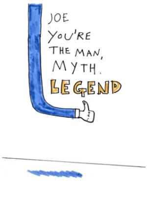 Greeting Cards - Birthday Card - Man - Myth - Legend - Illustration - Image 1