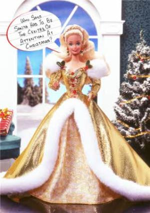 Greeting Cards - Barbie Centre Of Attention Christmas Card - Image 1