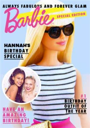 Greeting Cards - Barbie Annual Personalised Birthday Card - Image 1