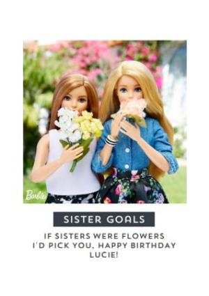 Greeting Cards - Barbie doll sentimental sister goals Birthday Card - Image 1