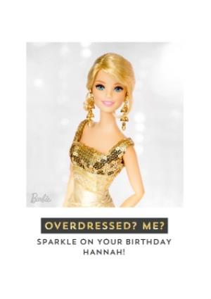 Greeting Cards - Barbie doll glamourous fashion Birthday Card - Image 1