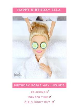Greeting Cards - Barbie doll birthday goals Birthday Card  - Image 1