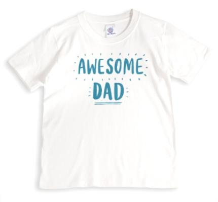 T-Shirts - Awesome Dad In Bright Letters Personalised T-Shirt - Image 1