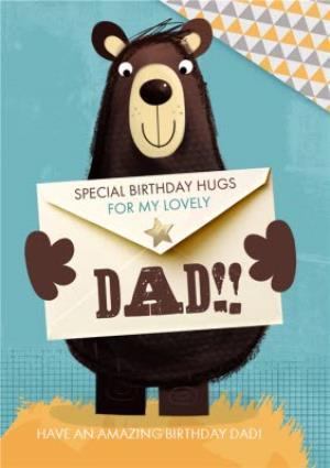 Greeting Cards - Big Bear Special Birthday Hugs Happy Birthday Dad Card - Image 1