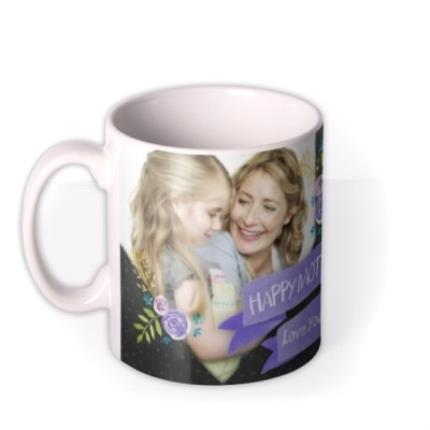 Mugs - Mother's Day Blue Ribbon Photo Upload Mug - Image 1