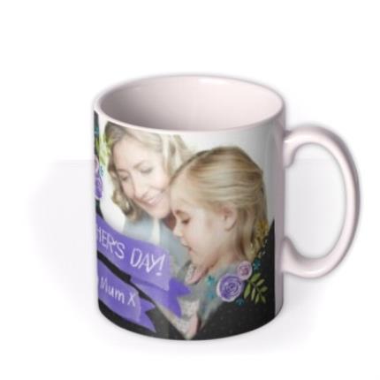 Mugs - Mother's Day Blue Ribbon Photo Upload Mug - Image 2