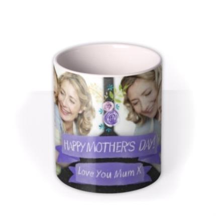 Mugs - Mother's Day Blue Ribbon Photo Upload Mug - Image 3