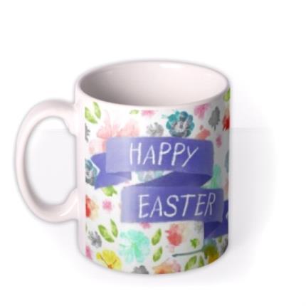 Mugs - Easter Blue Ribbon Photo Upload Mug - Image 1