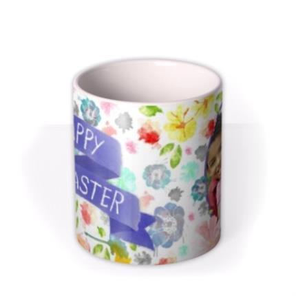 Mugs - Easter Blue Ribbon Photo Upload Mug - Image 3