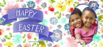Mugs - Easter Blue Ribbon Photo Upload Mug - Image 4