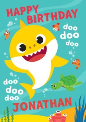 Baby Shark Song Kids Happy Birthday Card