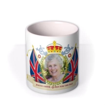 Mugs - Queen for the Day Photo Upload Mug - Image 3