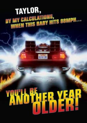 Greeting Cards - Back to the Future birthday card - De Lorean - Image 1
