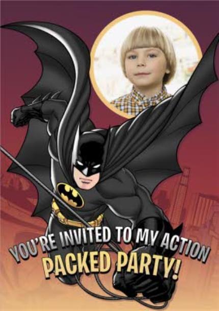 Greeting Cards - Batman Birthday Party Invitation - Image 1