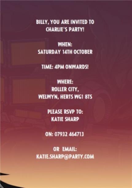 Greeting Cards - Batman Birthday Party Invitation - Image 3