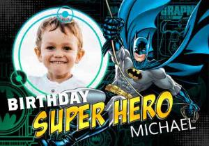 Greeting Cards - Batman Superhero Personalised Birthday Card - Image 1