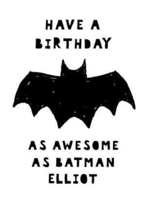 Greeting Cards - Birthday as awesome as Batman card - birthday card - Image 1