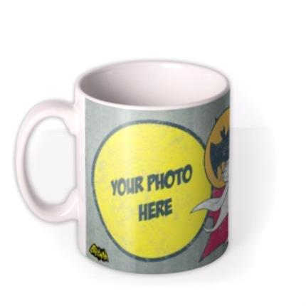 Mugs - Batman Vintage Effect Photo Upload Mug - Image 1