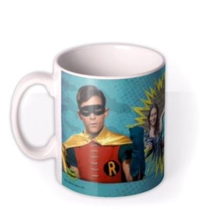 Mugs - Father's Day Batman and Robin Photo Upload Mug - Image 1