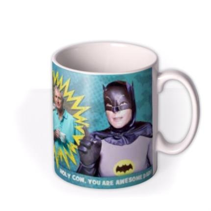 Mugs - Father's Day Batman and Robin Photo Upload Mug - Image 2