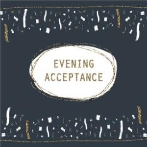 Greeting Cards - Metallic Confetti Evening Acceptance Party Card - Image 1
