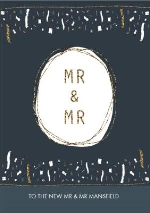 Greeting Cards - Metallic Mr And Mr Wedding Card - Image 1