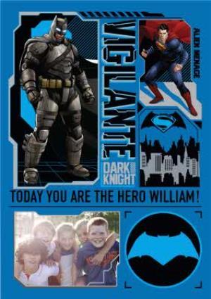 Greeting Cards - Batman And Superman Vigilante Personalised Birthday Card - Image 1