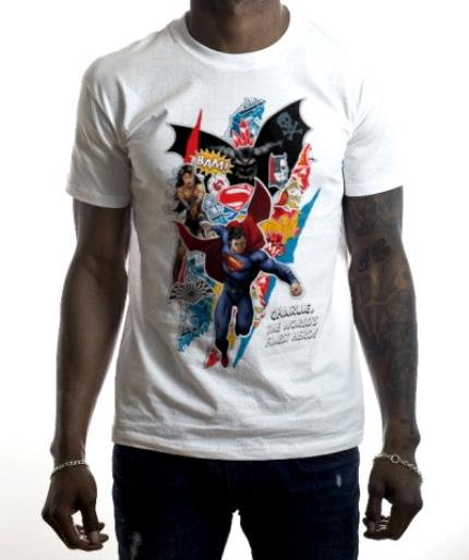 T-Shirts - Batman vs Superman Collage Personalised T-shirt - Image 2