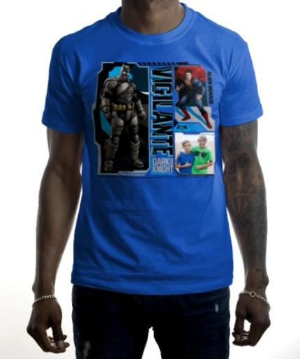 T-Shirts - Batman Vigilante Photo Upload T-Shirt - Image 2