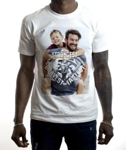 T-Shirts - Superman Strongest Photo Upload T-Shirt - Image 2