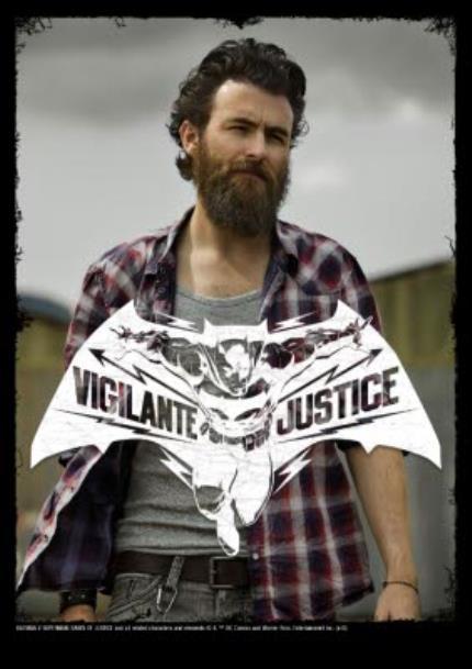 T-Shirts - Batman Justice Photo Upload T-Shirt - Image 4