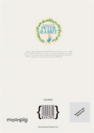 Greeting Cards - Beatrix Potter Peter Rabbit Babys First Christmas Personalised Card - Image 4