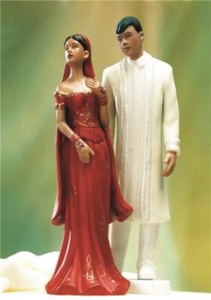 Greeting Cards - Indian Wedding Cake Topper Wedding Card - Image 1