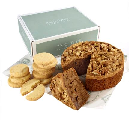 Food Gifts - Coffee & Walnut Cake with Cookies - NEW! - Image 1