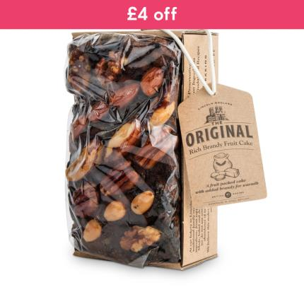 Food Gifts - The Original Cake Co Brandy Rich Fruit Cake - WAS £8 NOW £4 - Image 1