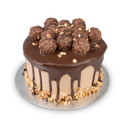 Food Gifts - Desserts Delivered Hazelnut Truffle Cake - Image 1