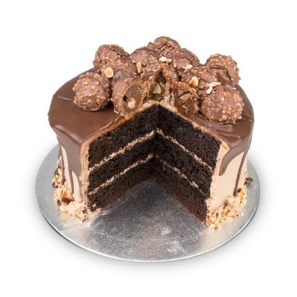 Food Gifts - Desserts Delivered Hazelnut Truffle Cake - Image 2