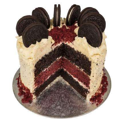 Food Gifts - Desserts Delivered Red Velvet and Cookie & Cream Cake - Image 1