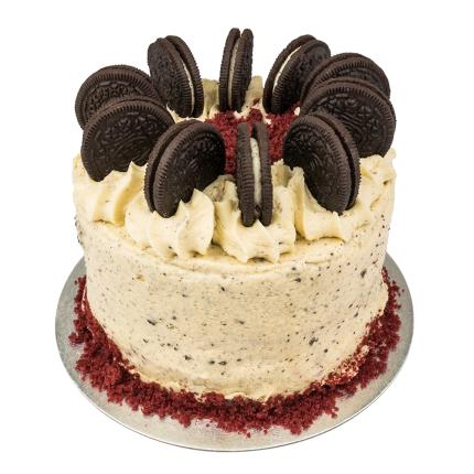 Food Gifts - Desserts Delivered Red Velvet and Cookie & Cream Cake - Image 3