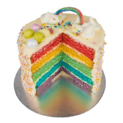 Food Gifts - Desserts Delivered Rainbow Cake - Image 1