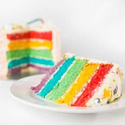 Food Gifts - Desserts Delivered Rainbow Cake - Image 2