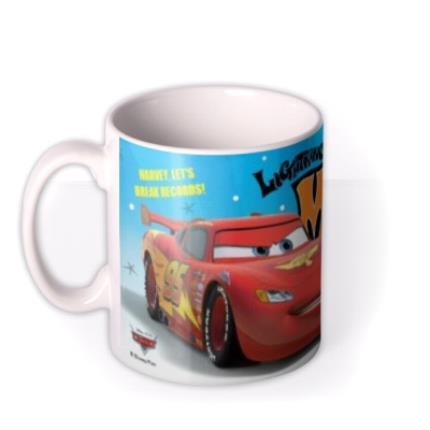 Mugs - Cars Let's Break Records Personalised Mug - Image 1
