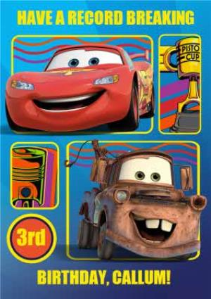Disney Cars Lightning Mcqueen And Mater Personalised Happy 3rd