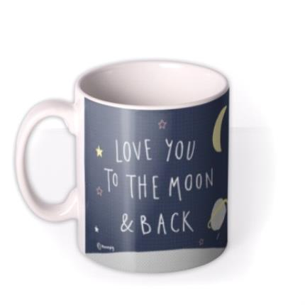 Mugs - Daddy Love You To The Moon & Back Photo Upload Father's Day Mug  - Image 1